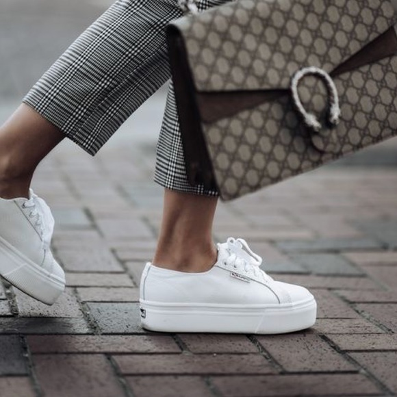 new product f559f 01d3f (Superga) 2790 ACOTW White Platform Sneakers